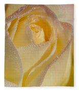 Dew Bejeweled Peace Rose Fleece Blanket