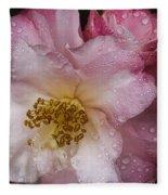 Dew Drops On Pink Fleece Blanket