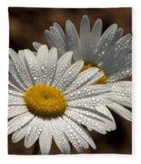 Dew Tell Oxeye Daisy Wildflowers Fleece Blanket