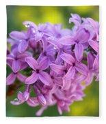 Dewdrops On Lilacs Fleece Blanket