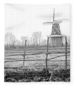 Dezwaan Windmill In Holland Michigan During November Fleece Blanket