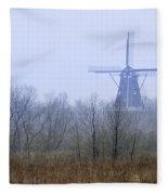 Dezwaan Windmill In Holland Michigan No. 105 Fleece Blanket