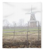 Dezwaan Windmill In Holland Michigan No.232 Fleece Blanket