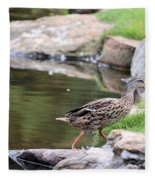 Diary Of A Mad Brown Duck Fleece Blanket