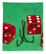 Dice Red Hook 1 A Fleece Blanket