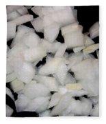 Diced Onions Fleece Blanket