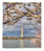 Digital Liquid - Cherry Blossoms Washington Dc 4 Fleece Blanket