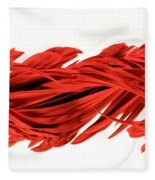 Digital Streak Image Of A Poinsettia Fleece Blanket