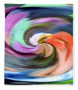 Digital Swirl Of Color 2001 Fleece Blanket