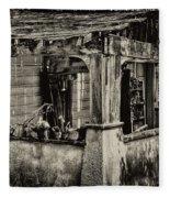 Dilapidated House Fleece Blanket