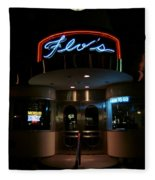 Diner At Night Fleece Blanket