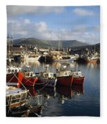 Dingle, Co Kerry, Ireland Boats In A Fleece Blanket