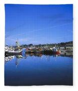 Dingle Harbour, Dingle, Co Kerry Fleece Blanket