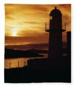 Dingle Lighthouse, Dingle Peninsula Fleece Blanket