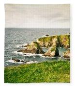 Dingle Peninsula Shoreline 3 Fleece Blanket