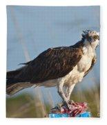 Dining Osprey Fleece Blanket