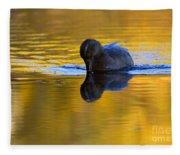 Dipping In Gold Fleece Blanket