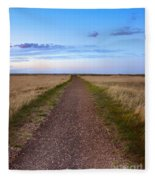 Dirt Road Through The Prairie Fleece Blanket