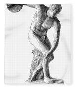 Discobolus Casting Fleece Blanket