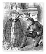 Disraeli Cartoon, 1876 Fleece Blanket