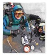 Diving In The Ice Fleece Blanket