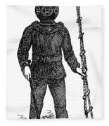 Diving Suit, 1855 Fleece Blanket
