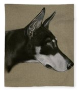 Doberman Fleece Blanket