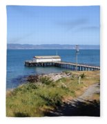 Dock At Point Reyes Calfornia . 7d16069 Fleece Blanket