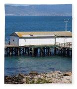 Dock At Point Reyes Calfornia . 7d16070 Fleece Blanket