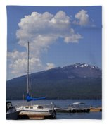 Docks At Diamond Lake Fleece Blanket