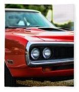 Dodge Super Bee Classic Red Fleece Blanket
