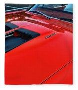 Dodge Super Bee Hood  In Red Fleece Blanket