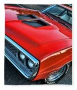 Dodge Super Bee In Red Fleece Blanket