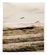 Dodging The Waves Fleece Blanket