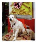 Dog At Carnival Fleece Blanket