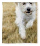 Dog Running Fleece Blanket