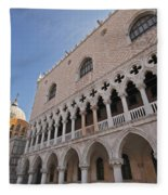 Doges Palace Off Piazza San Marco Or Fleece Blanket