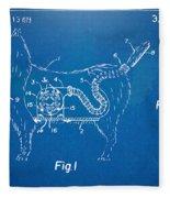 Doggie Vacuum Patent Artwork Fleece Blanket