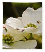 Dogwood Spider Fleece Blanket