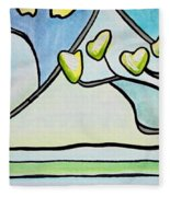 Dogwood Stained Glass I Fleece Blanket