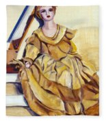 Doll On Canvases  Fleece Blanket