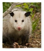 Don't Mess With Me Opossum Fleece Blanket