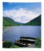 Doo Lough, Delphi, Co Mayo, Ireland Fleece Blanket