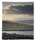 Dooagh, Achill Island, Co Mayo, Ireland Fleece Blanket