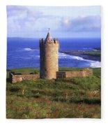 Doonagore Castle, Co Clare, Ireland Fleece Blanket