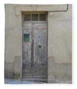 Door With Green Mailbox Fleece Blanket