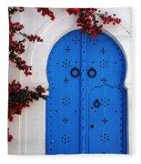 Doorway In Tunisia 1 Fleece Blanket