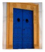Doorway In Tunisia 2 Fleece Blanket