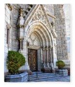 Doorway Sacred Heart Cathedral Fleece Blanket