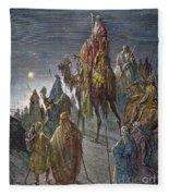 Dor�: Journey Of The Magi Fleece Blanket